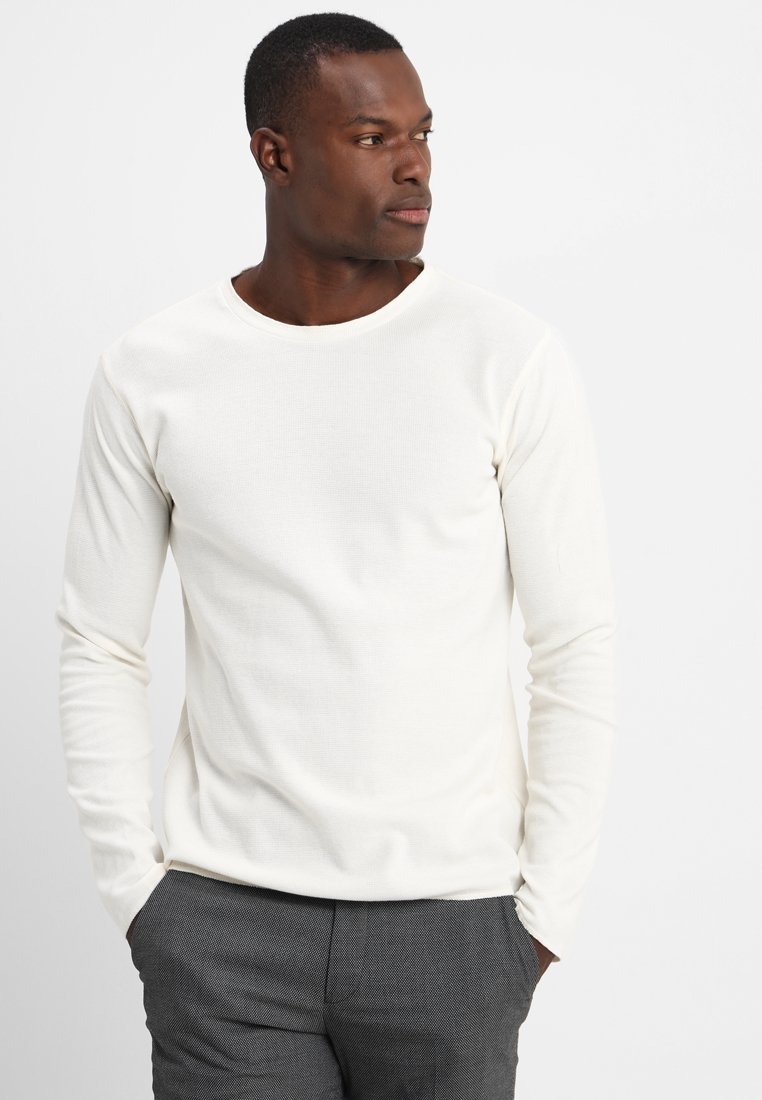 Marc O'Polo - LONG SLEEVE ROUND NECK - Strickpullover - vanilla ice