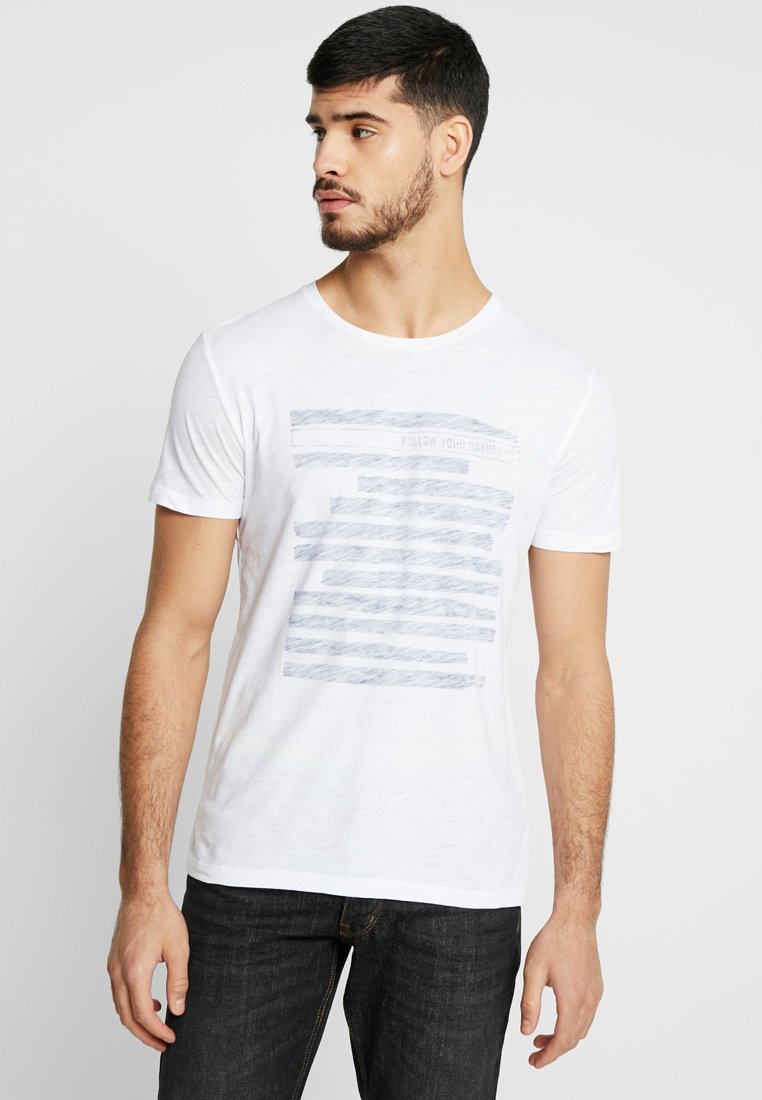 Marc O'Polo - SHORT SLEEVE ROUND NECK - T-shirt imprimé - white