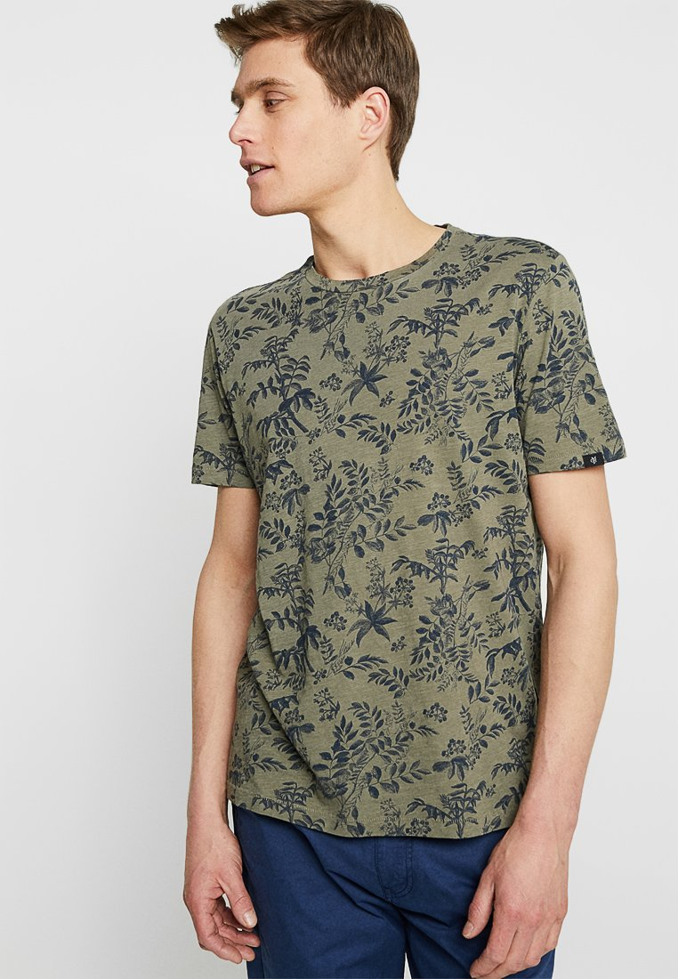 Marc O'Polo - SHORT SLEEVE ROUND NECK - T-Shirt print - olive
