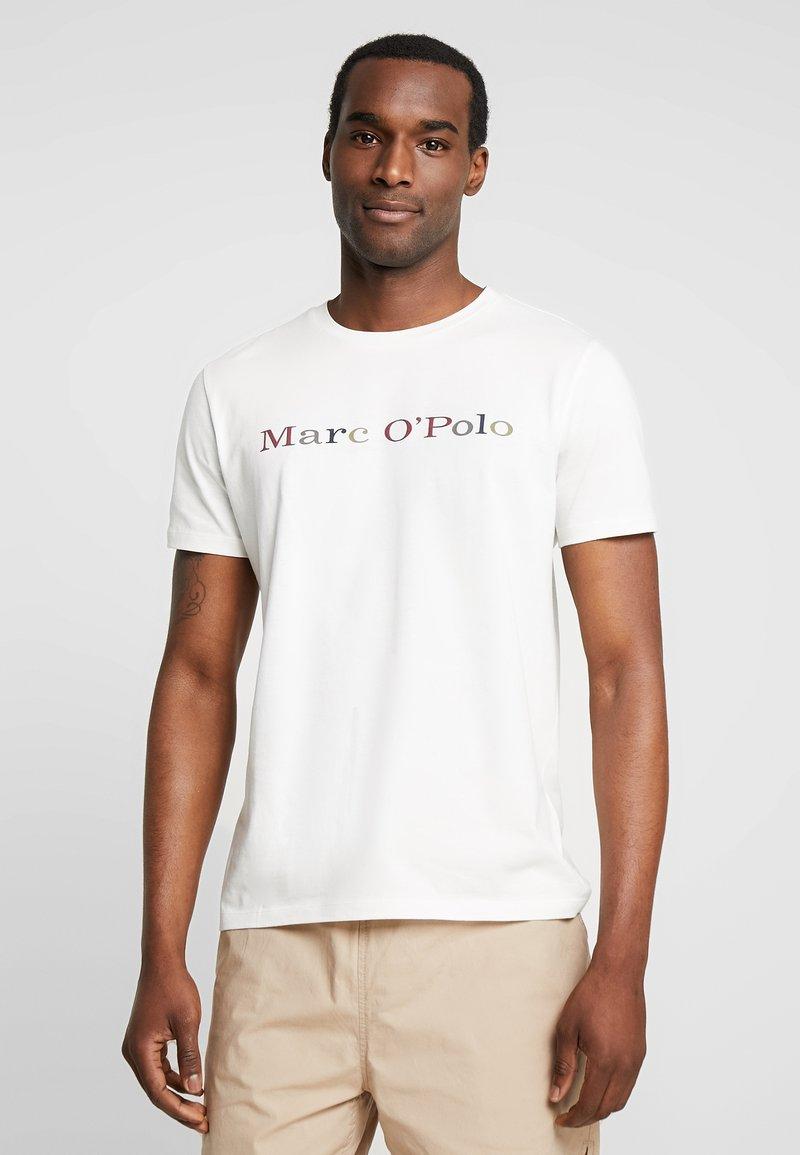 Marc O'Polo - SHORT SLEEVE ROUND NECK - T-shirts med print - egg white