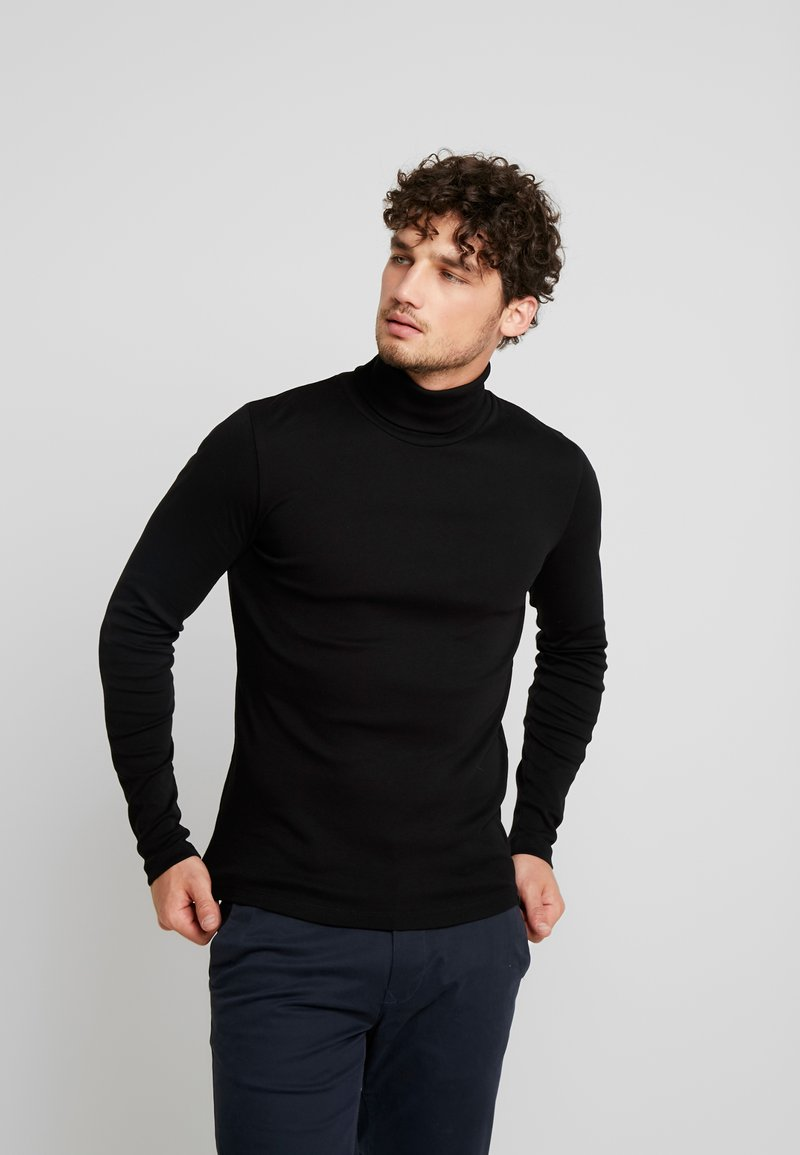 Marc O'Polo - LONGSLEEVE TURTLENECK - Long sleeved top - black