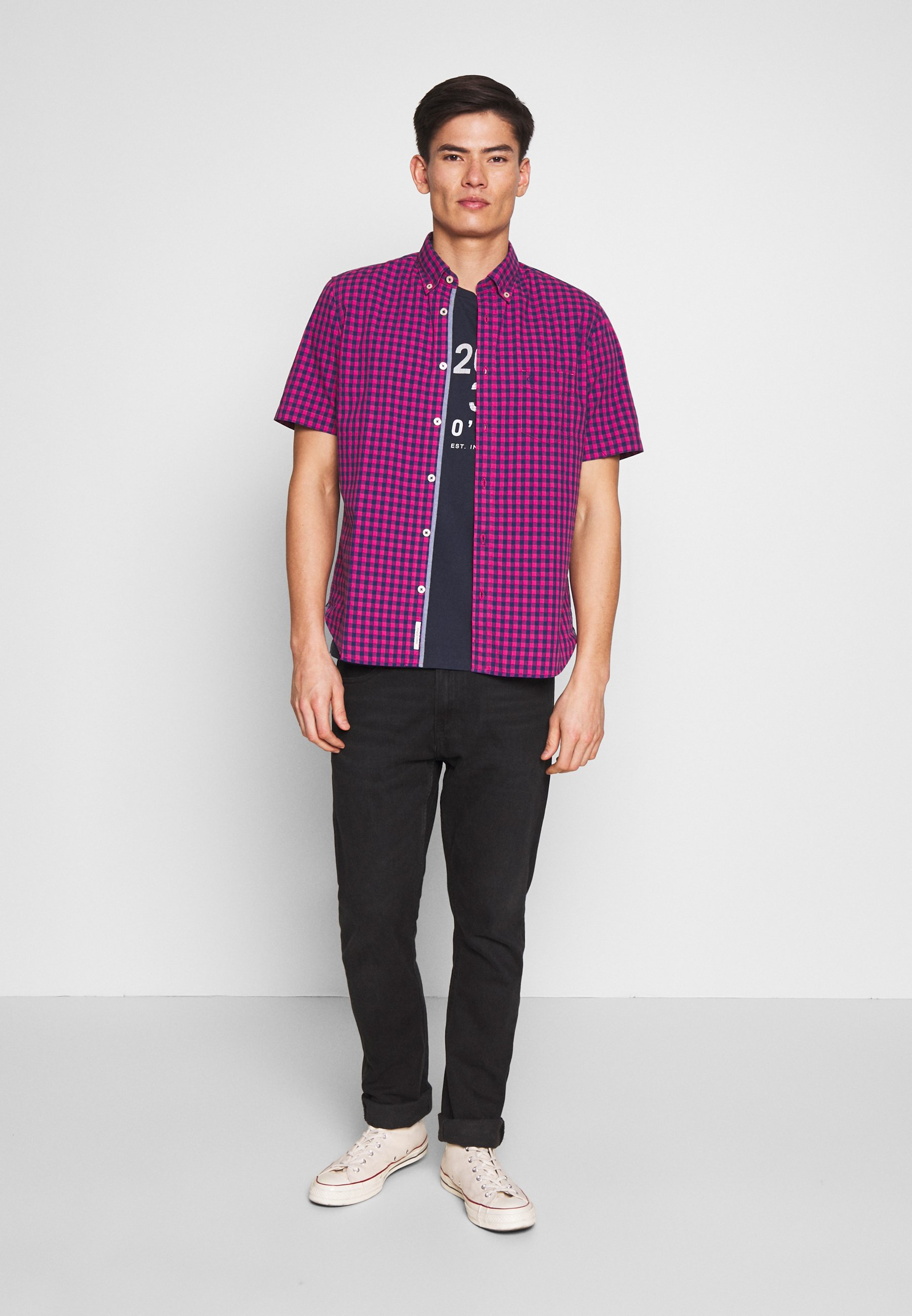 Marc O'polo T-shirt, Short Sleeve, Crew Neck, Artwork On Chest - T-shirt Med Print Total Eclipse
