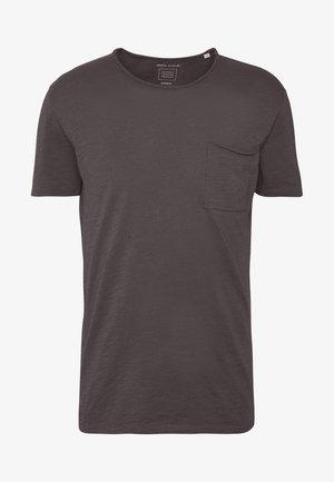 SHORT SLEEVE ROUND NECK CHEST POCKET - Basic T-shirt - gray pinstripe