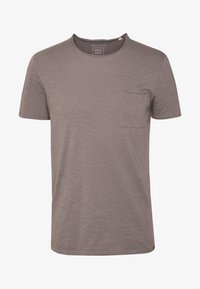 Marc O'Polo - SHORT SLEEVE ROUND NECK CHEST POCKET - T-paita - castlerock - 3