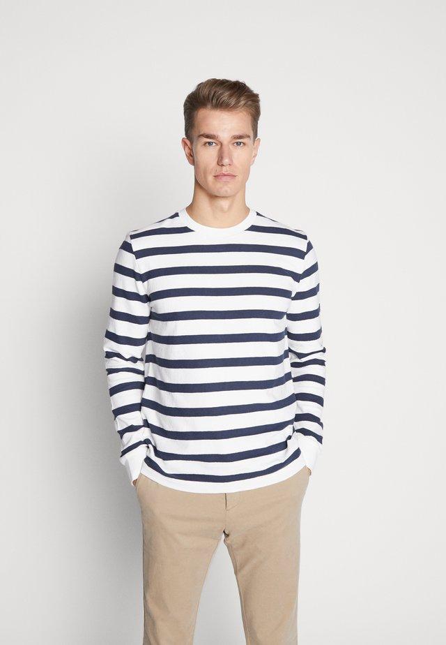 LONG SLEEVE - Langærmede T-shirts - white/blue