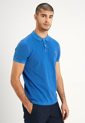 SHORT SLEEVE RIB DETAILS - Polo shirt - waterfall