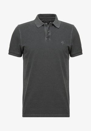 SHORT SLEEVE RIB DETAILS - Polo shirt - pirate black