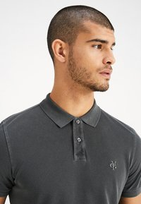Marc O'Polo - SHORT SLEEVE RIB DETAILS - Polo - pirate black - 4