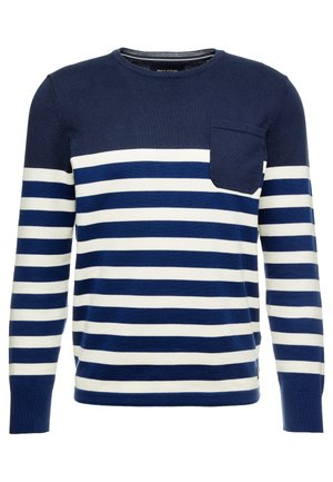 CREW NECK STRIPE - Maglione - total eclipse