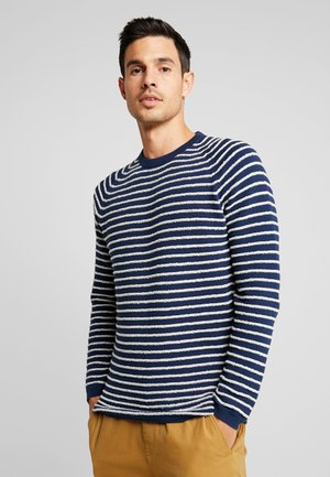 CREW NECK STRIPE - Neule - blue fjord