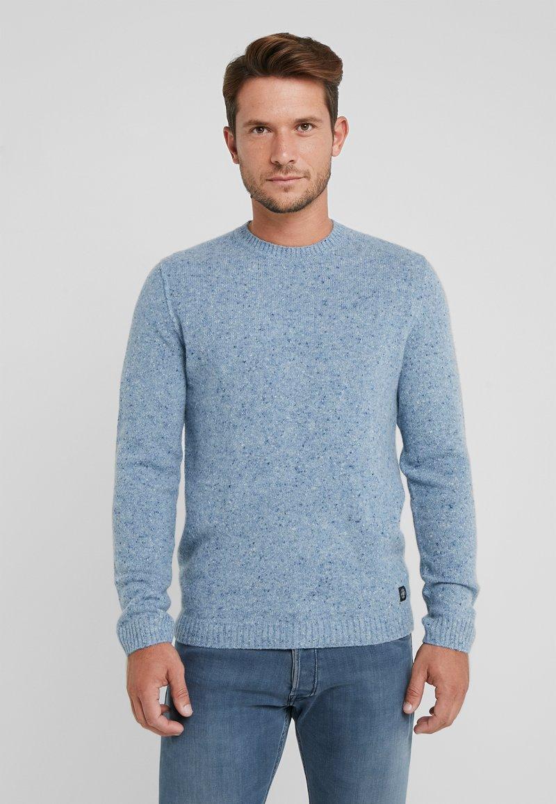 Marc O'Polo - CREW NECK - Strickpullover - light denim blue
