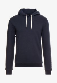 Marc O'Polo - HOODIE WITH RIB DETAILS DRAW CORD - Luvtröja - total eclipse - 4