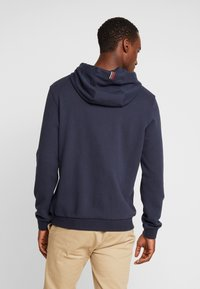 Marc O'Polo - HOODIE WITH RIB DETAILS DRAW CORD - Luvtröja - total eclipse - 2