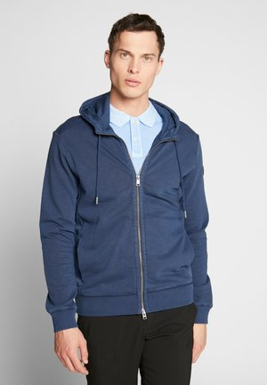 HOODIE JACKET SIDE POCKETS - Mikina na zip - total eclipse