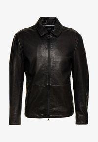 Marc O'Polo - JACKETBIKER - Leren jas - black - 4