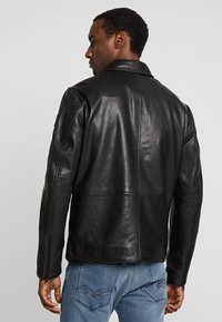 Marc O'Polo - JACKETBIKER - Leren jas - black - 2