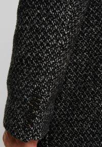 Marc O'Polo - COAT LONG SLEEVE - Short coat - dark grey melange - 4