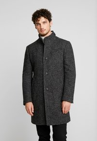 Marc O'Polo - COAT LONG SLEEVE - Short coat - dark grey melange - 0