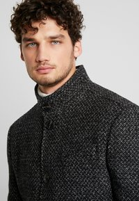 Marc O'Polo - COAT LONG SLEEVE - Short coat - dark grey melange - 3