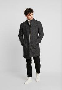 Marc O'Polo - COAT LONG SLEEVE - Short coat - dark grey melange - 1