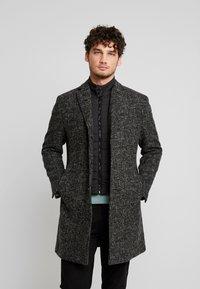 Marc O'Polo - COAT REGULAR FIT LONG SLEEVE - Zimní kabát - dark grey melange - 0