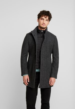 COAT SHAPED FIT LONG SLEEVE WIND - Cappotto corto - dark grey melange