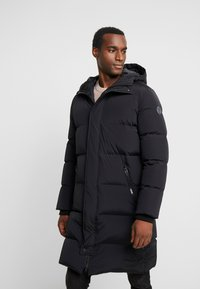 Marc O'Polo - REGULAR FIT LONG SLEEVE HOOD ZIP AND BUTTON PLACKET - Kurtka puchowa - black - 0