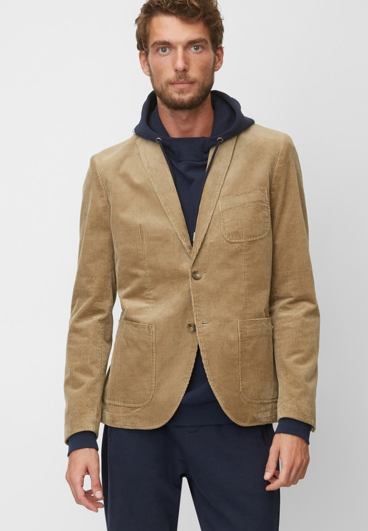 Marc O'Polo - SHAPED FIT - Blazer jacket - beige