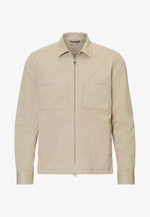 LONG SLEEVE TWO PATCHED CHEST AND SIDE SEAM POCKETS - Giacca leggera - beige