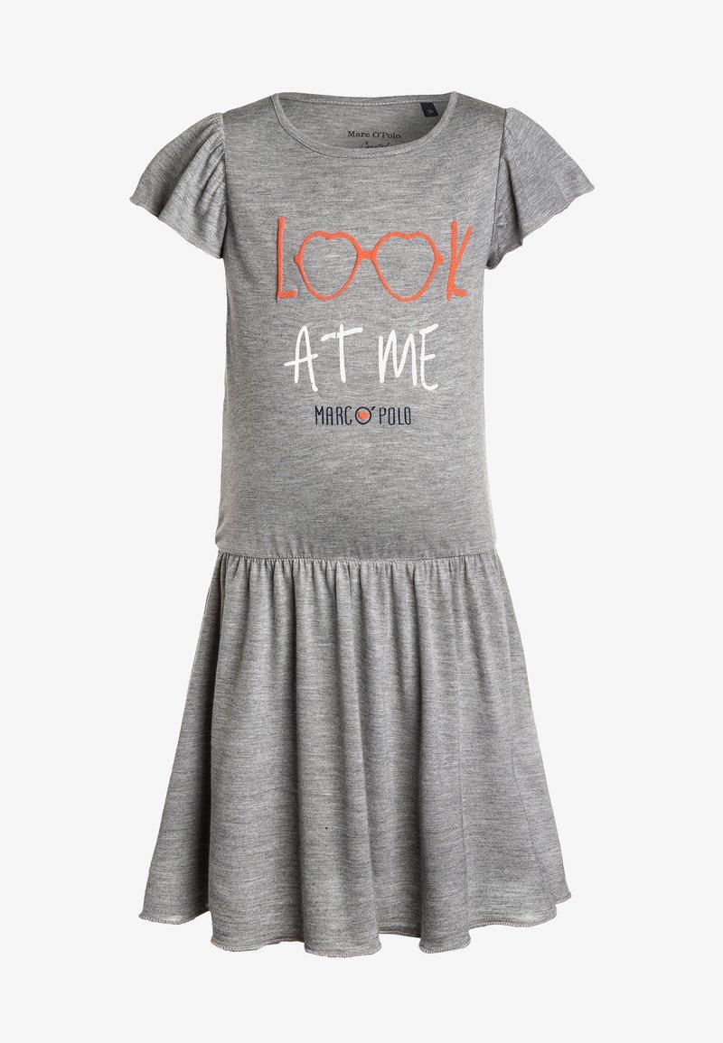 Marc O'Polo - KIDS GIRLS TODAY MOOD MIT FLÜGELARM - Jerseyklänning - softgrey melange/gray