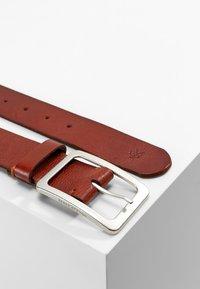 Marc O'Polo - BELT LADIES - Belt business - cognac/silver - 2