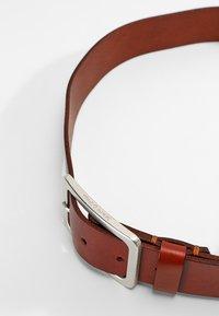 Marc O'Polo - BELT LADIES - Belt business - cognac/silver - 3