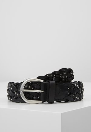 BELT LADIES - Pletený pásek - black