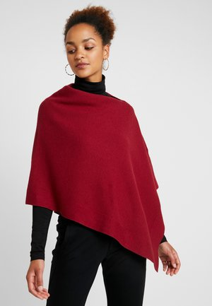 STRUCTURED IN VARIO - Poncho - light beetroot