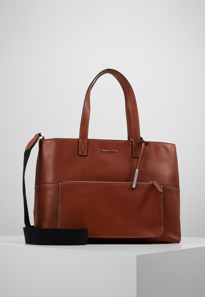 Marc O'Polo - SHOPPER - Sac à main - authentic cognac