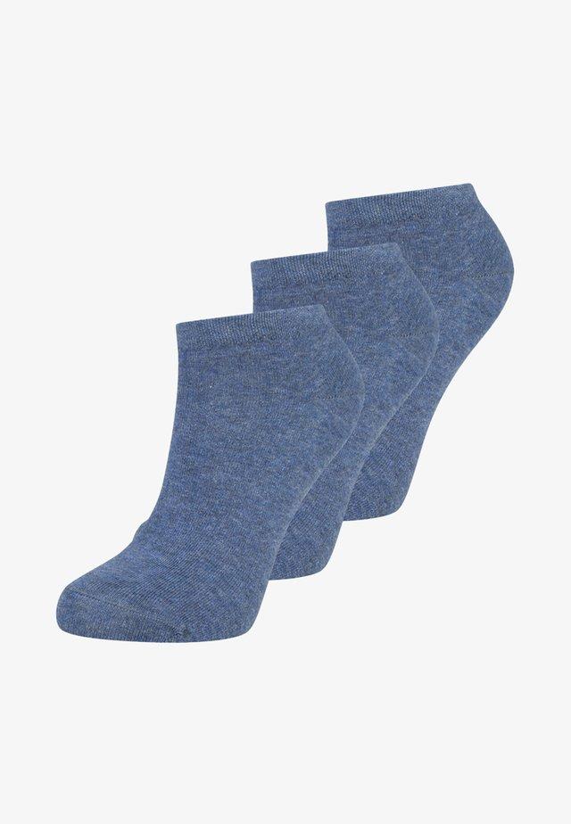 SNEAKER WOMEN 3 PACK - Strømper - jeansblau