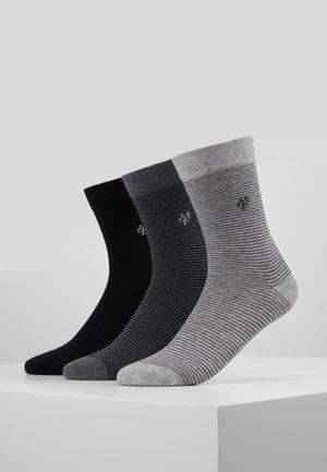3 PACK - Sokken - schwarz