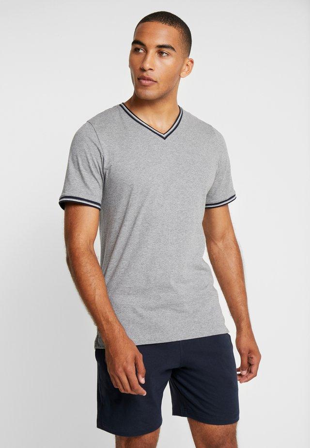 SET - Pyjama - grey/dark blue