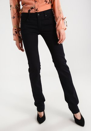 OLIVIA - Jeansy Straight Leg - double black stretch