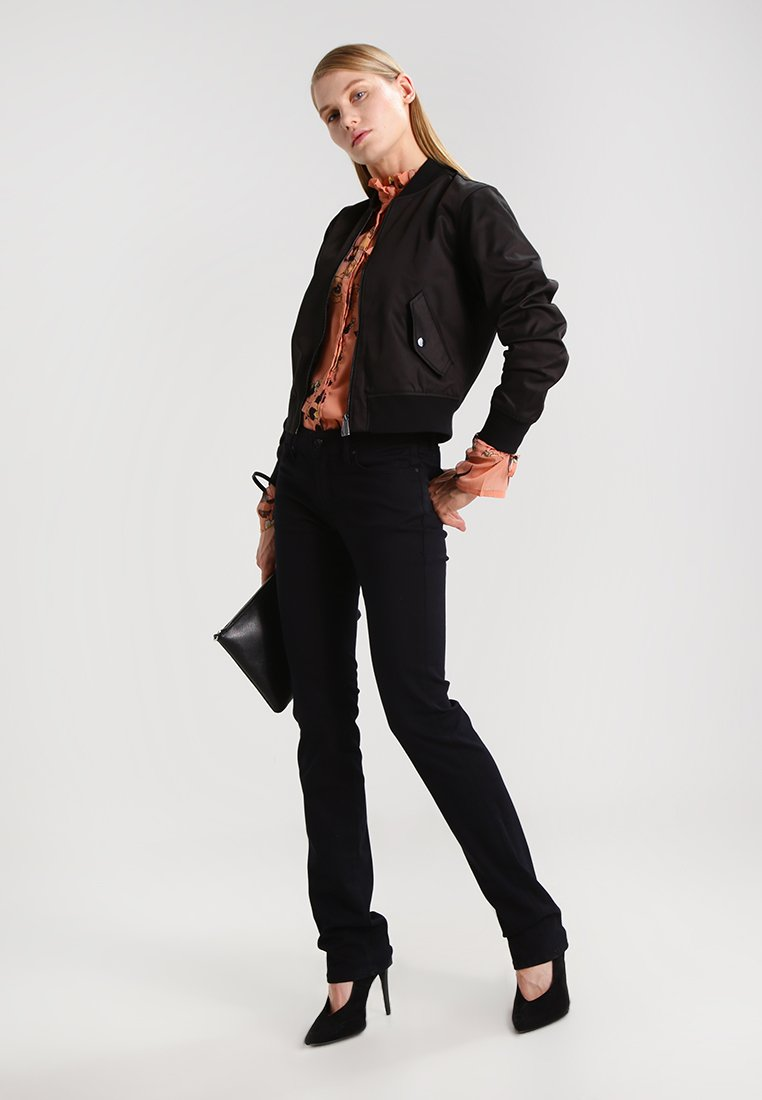 Mavi OLIVIA - Jeansy Straight Leg - double black stretch