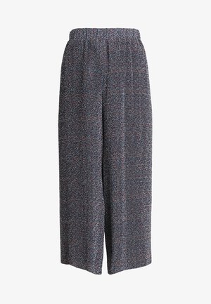 PLEATED PANTS - Trousers - blue