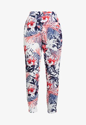 ELASTIC WAISTED PANTS - Trousers - hibiscus