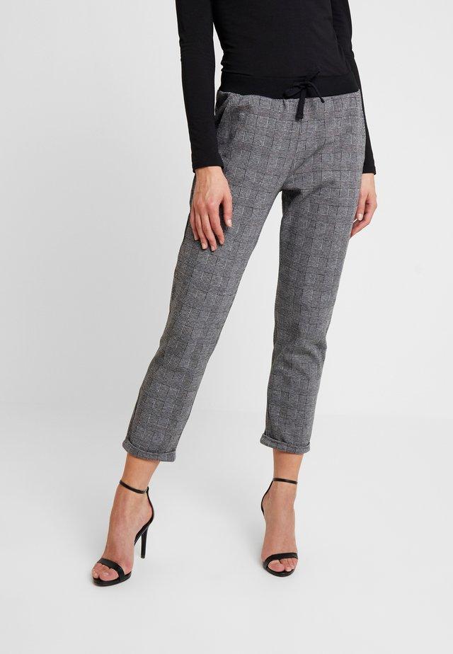 DRAWSTRING CHECK PANTS - Jogginghose - grey