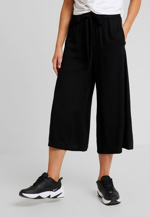 DRAWSTRING PANTS - Pantaloni - black