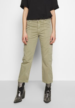 CARLY - Pantalon classique - green washed down