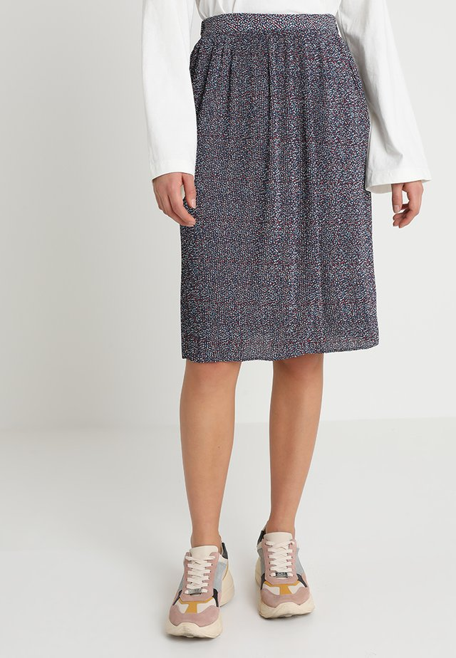 PRINTED PLEATED SKIRTS - A-Linien-Rock - dress blue