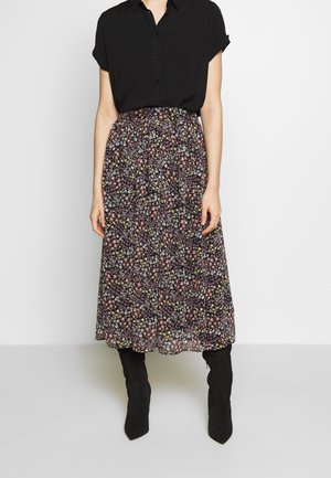 SKIRT - A-line skjørt - black/purple