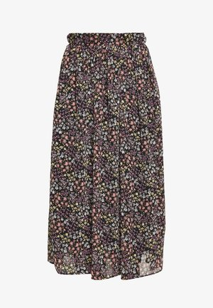 SKIRT - A-line skirt - black/purple