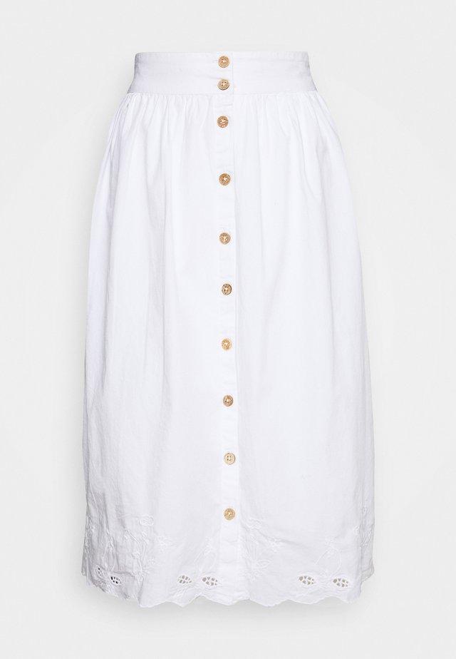 SKIRT - Spódnica trapezowa - white
