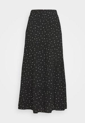 PRINTED SKIRT - A-linjainen hame - black/white